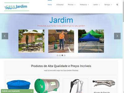 Site Casa Jardim Piscinas