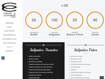 Criação do Site Cláudio e Consolinha Buffet