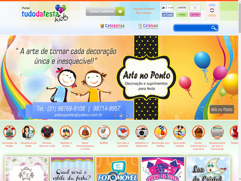 Site do Portal Tudo da Festa